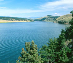 Photo of the Hauser Reservoir in Southwest Montana