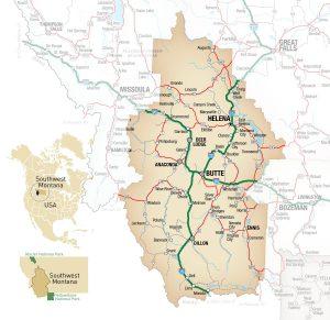 Southwest Montana Map
